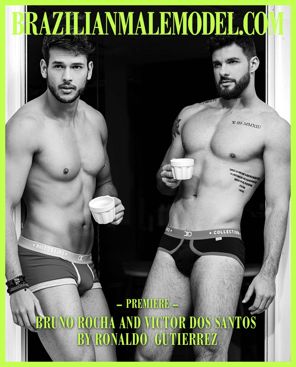 Bruno Rocha and Victor Dos Santos X Ronaldo Gutierrez X Brazilian Male Model X YUP MAGAZINE