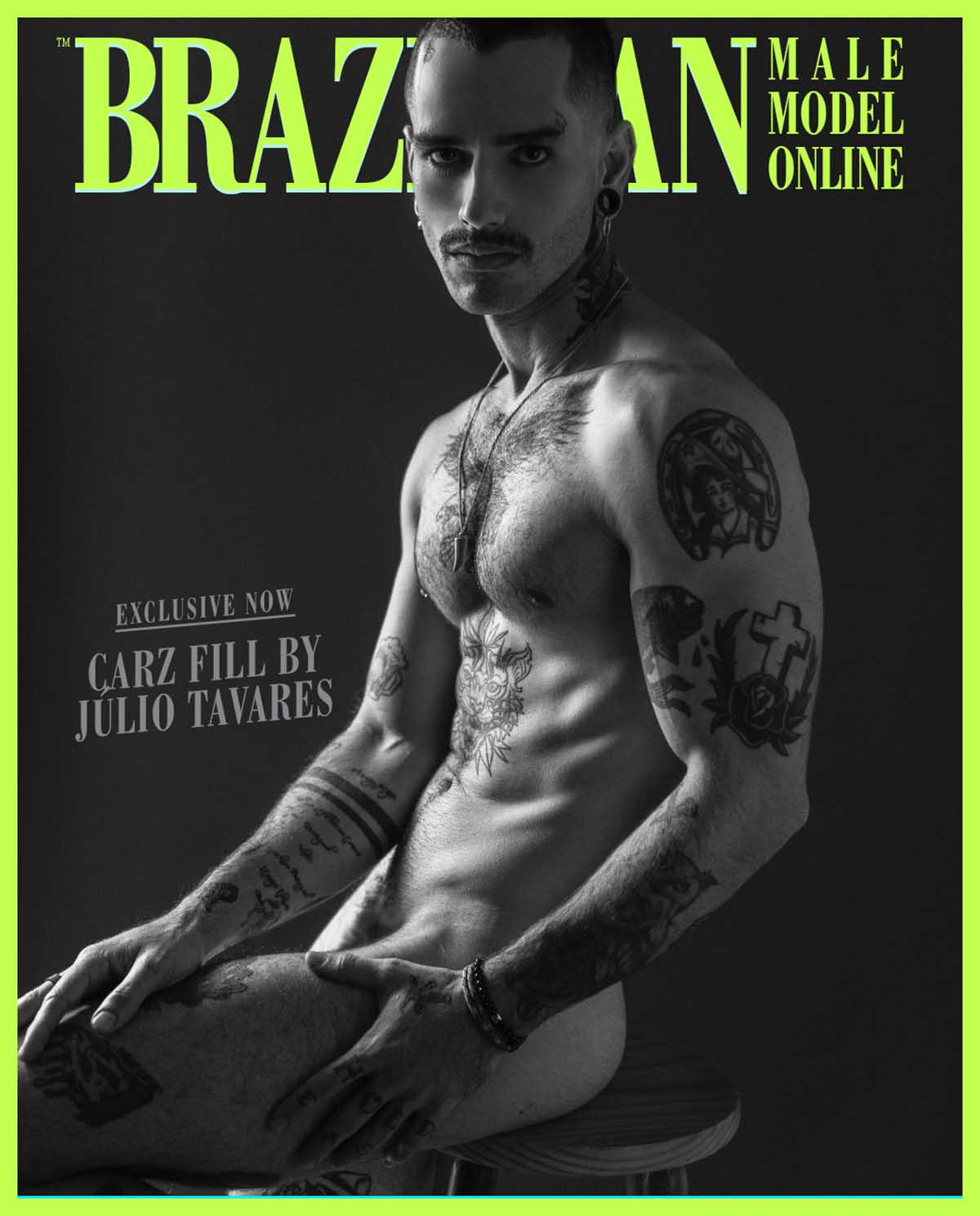 Carz Fill X Julio Tavares X Brazilian Male Model X YUP MAGAZINE